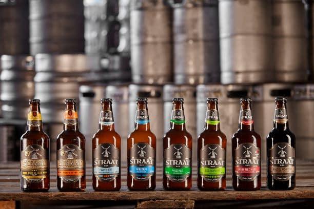 Garrafas de cervejas artesanais da Straat Bier